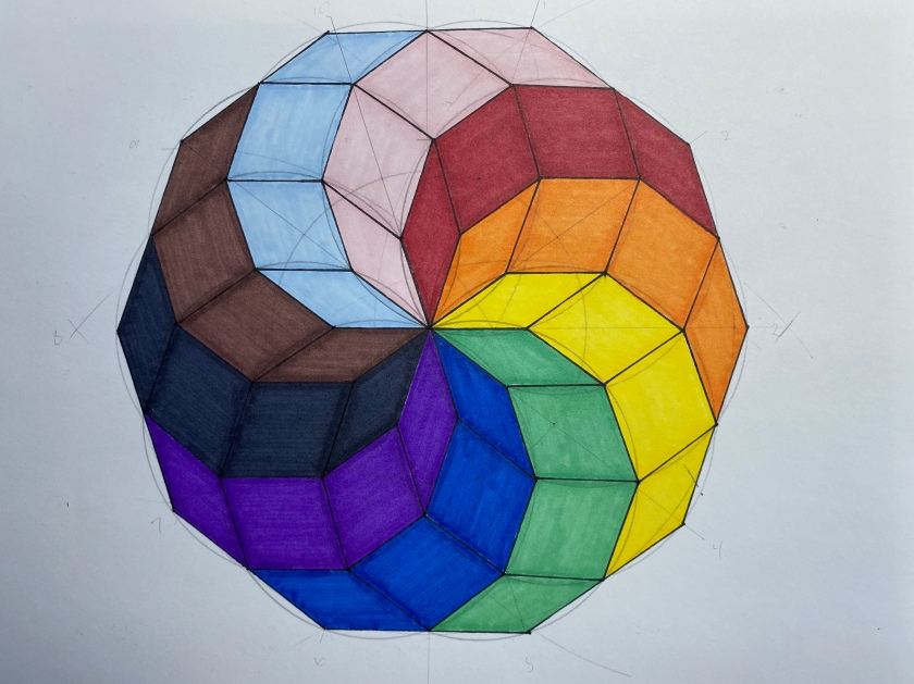 MAC 75 Decagon pride flag