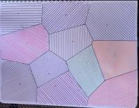 Voronoi Diagram Sketched in Notebook